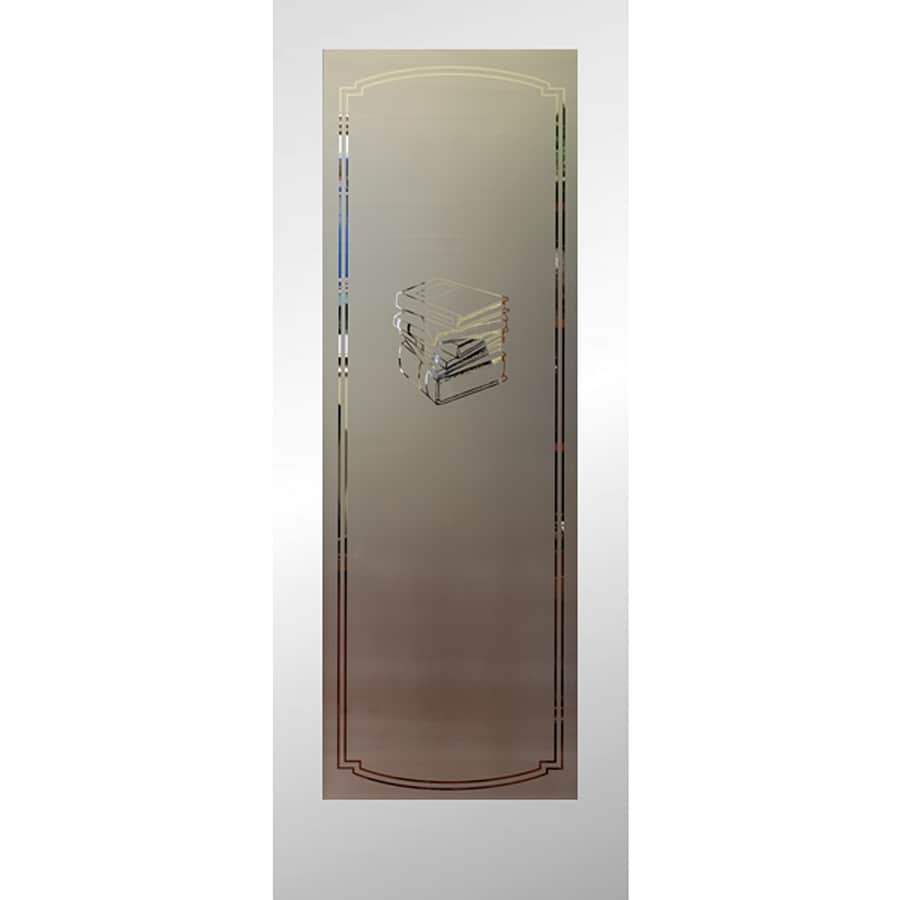 Shop Reliabilt Primed 1 Panel Solid Core Frosted Glass Wood Slab Door Common 24 In X 80 In