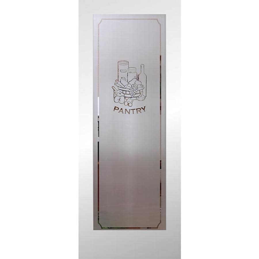 Beau ReliaBilt White 1 Panel Solid Core Etched Glass Wood Slab Door (Common: 24