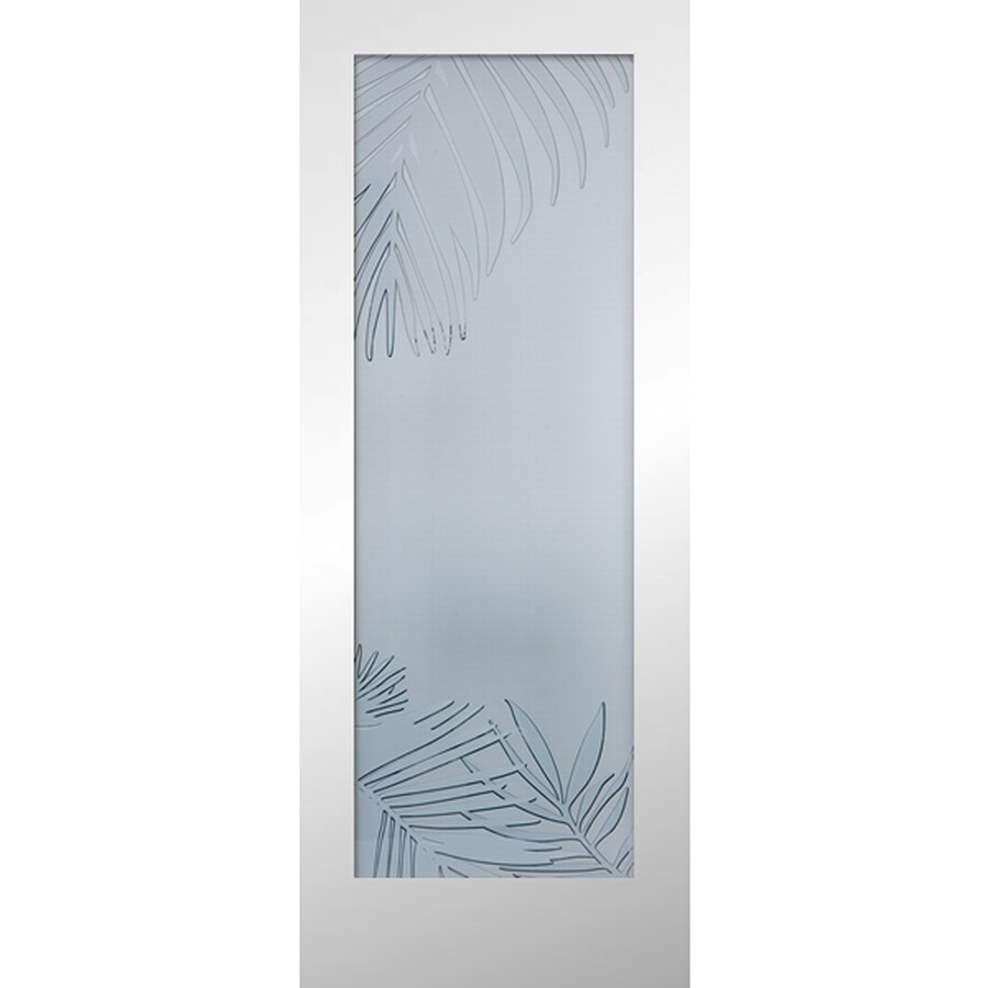ReliaBilt Primed Solid Core Frosted Glass Slab Interior Door (Common: 24-in x 80-in; Actual: 24-in x 80-in)