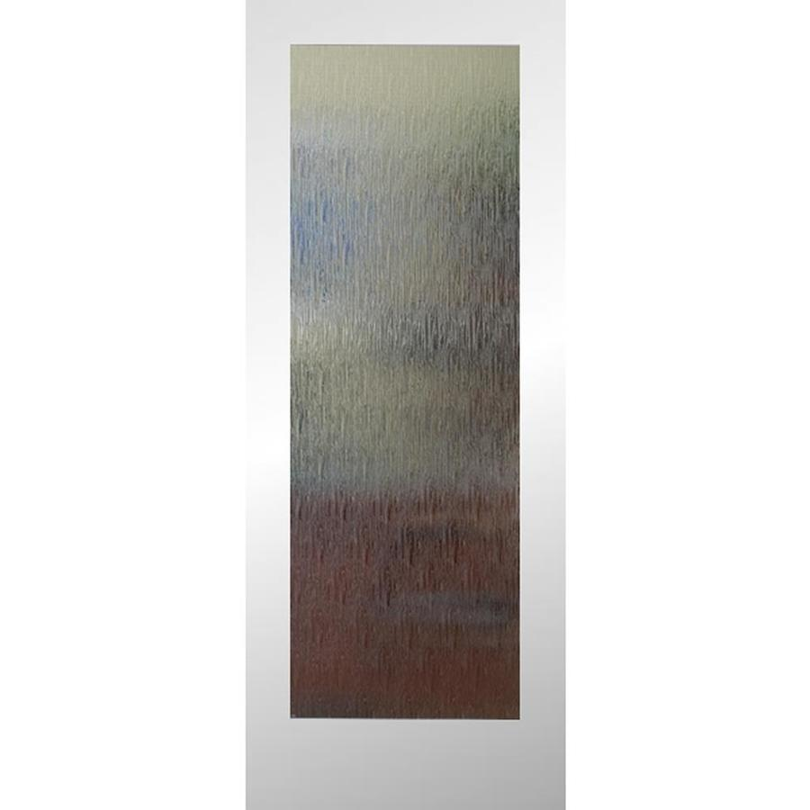 ReliaBilt Primed 1 Panel Solid Core Patterned Glass Wood Slab Door (Common:  24