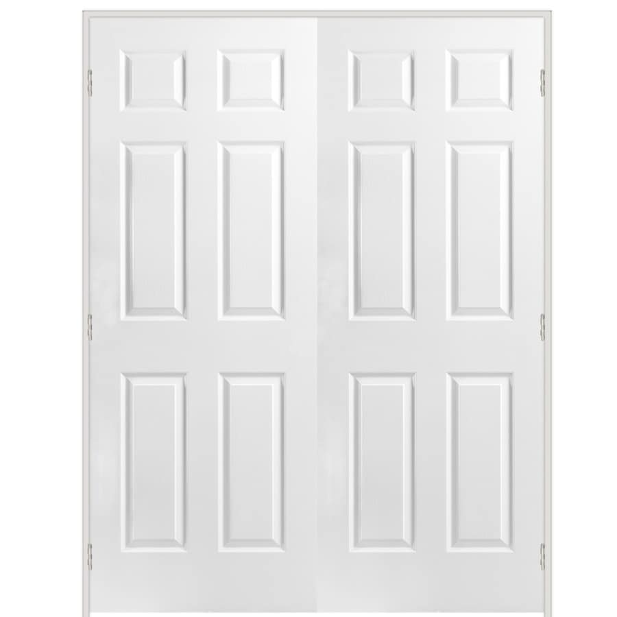 Great ReliaBilt White 6 Panel Hollow Core Molded Composite Single Prehung Door  (Common: 48