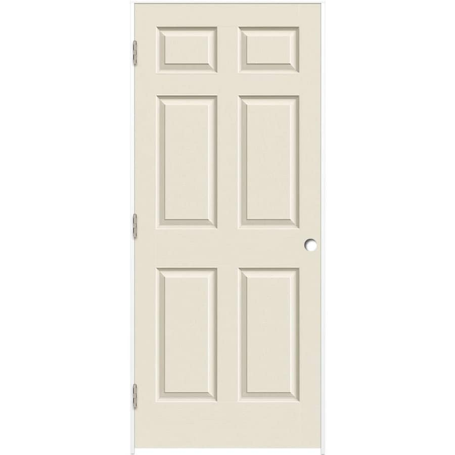 Exceptionnel ReliaBilt White 6 Panel Solid Core Molded Composite Single Prehung Door  (Common: 24