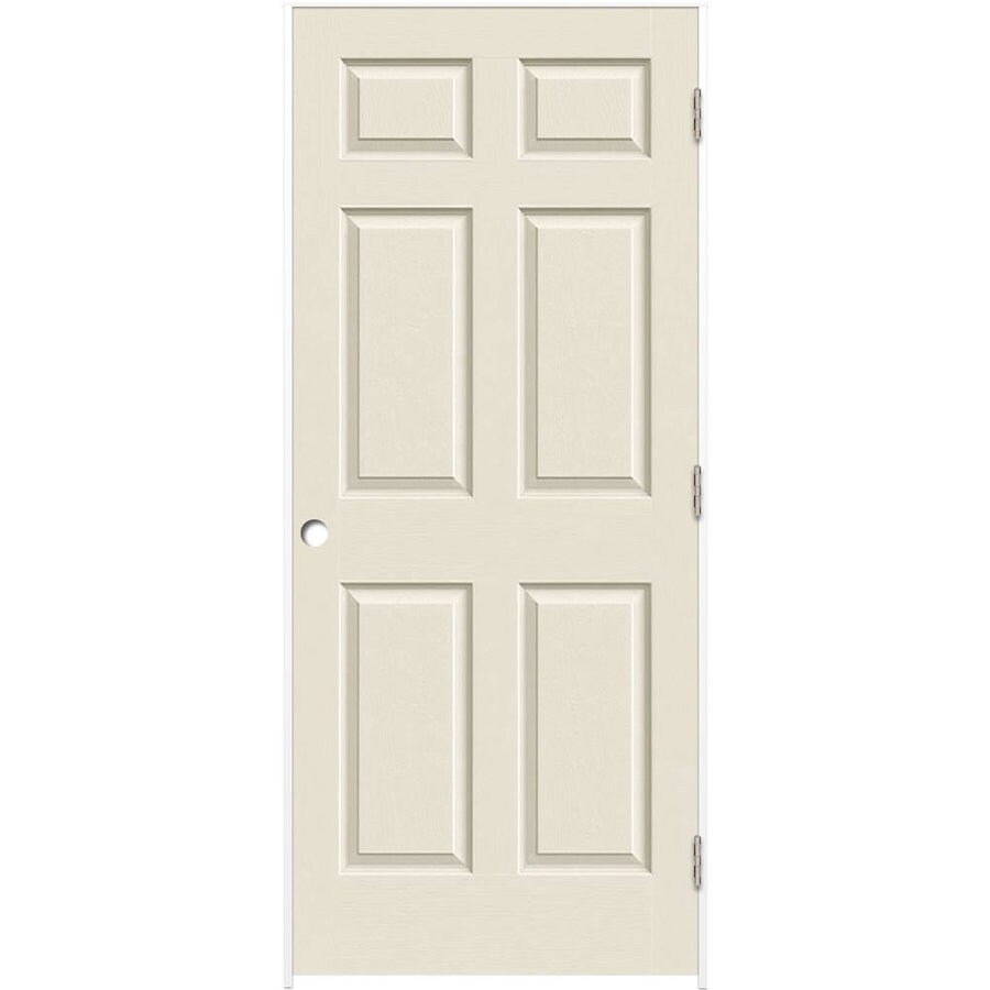 ReliaBilt Prehung Solid Core 6-Panel Interior Door (Common: 24-in x 80-in; Actual: 25.5-in x 81.5-in)