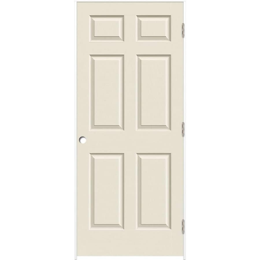 ReliaBilt (Primed) Prehung Solid Core 6-Panel Interior Door (Common: 24-in x 80-in; Actual: 25.5-in x 81.5-in)