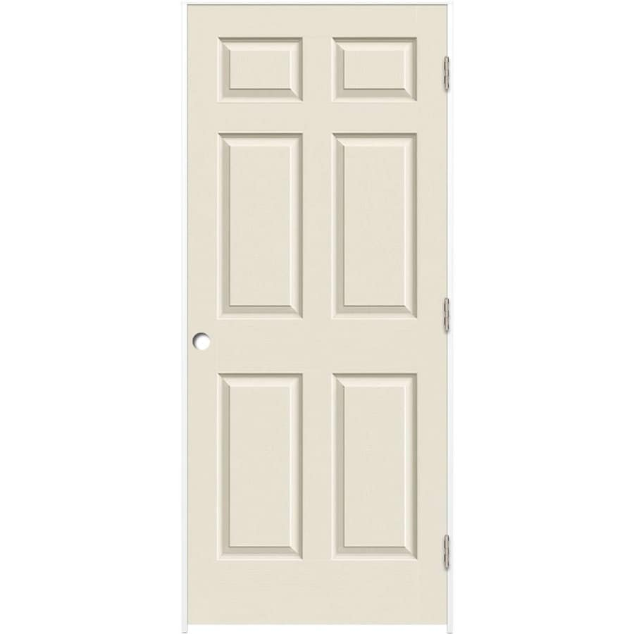 ReliaBilt (Primed) Prehung Solid Core 6-Panel Interior Door (Common: 30-in x 80-in; Actual: 31.5-in x 81.5-in)