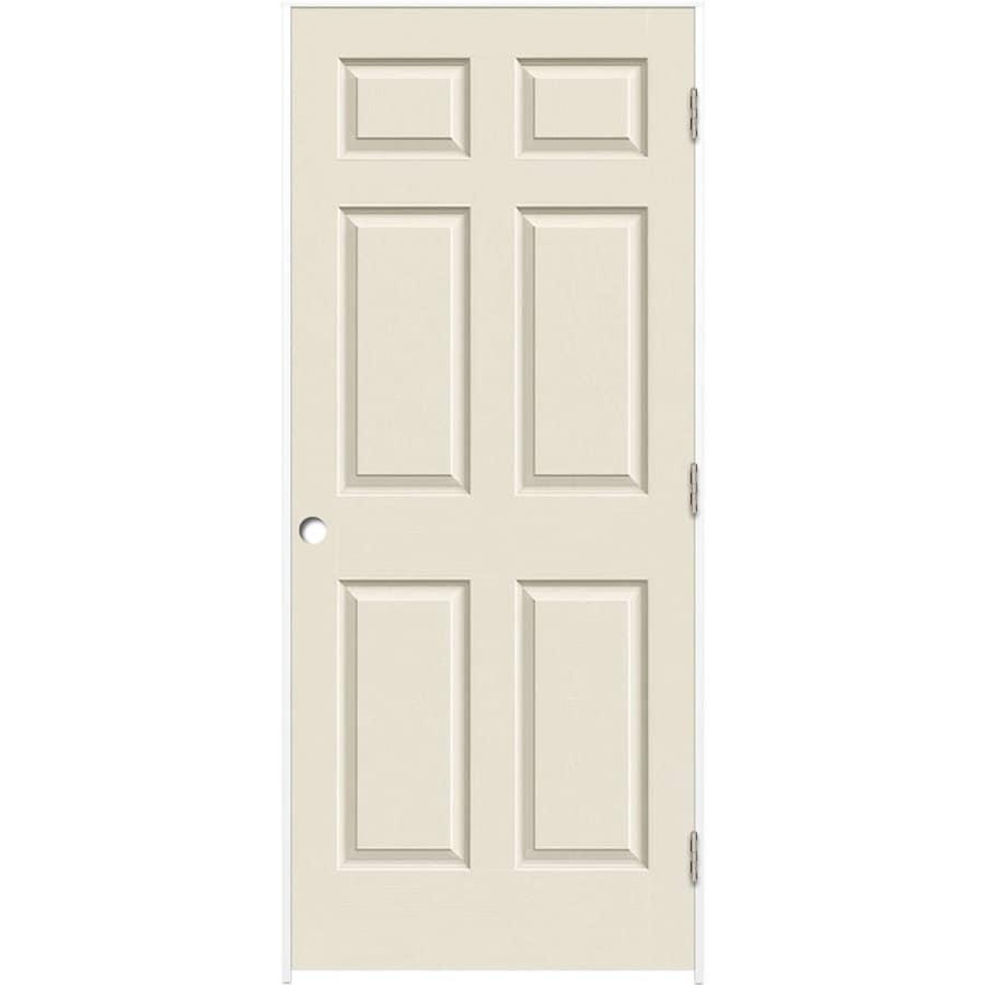 Reliabilt white 6 panel solid core molded composite single - Single panel prehung interior doors ...