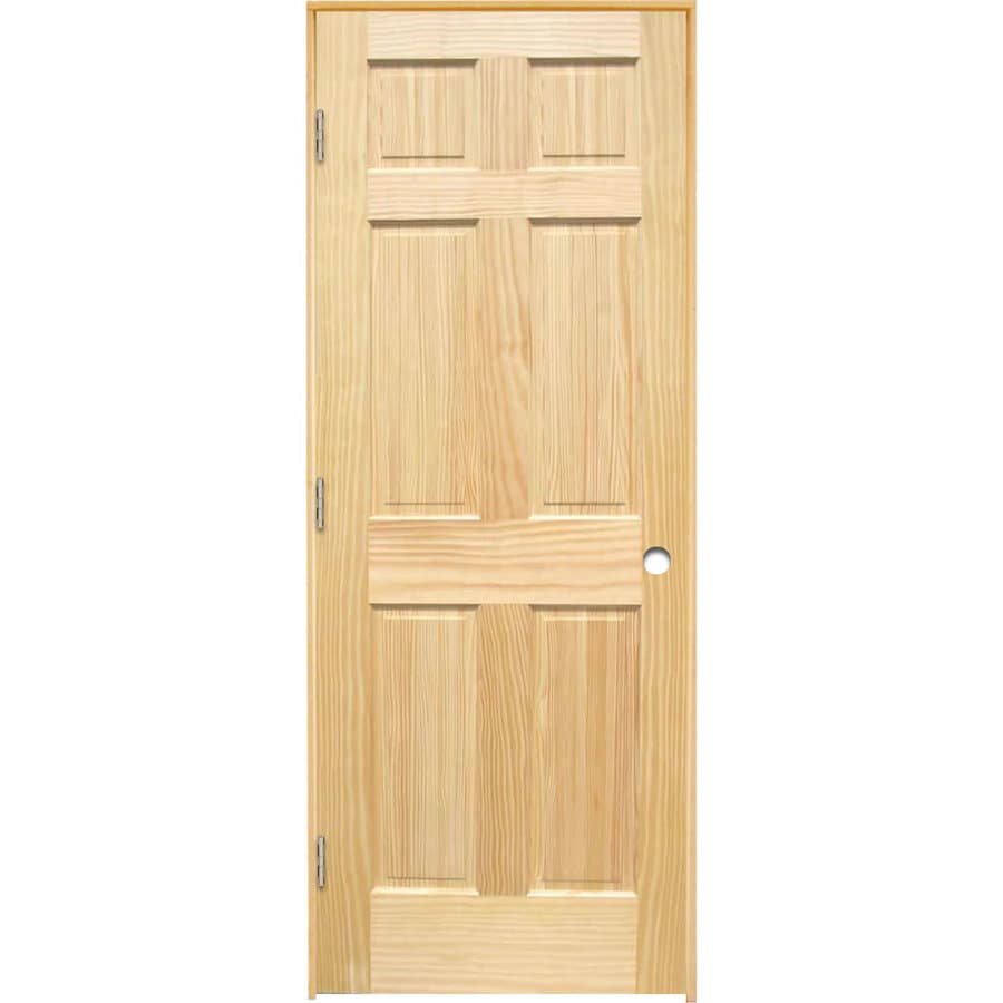Shop reliabilt prehung 6 panel pine interior door common for Interior panel doors