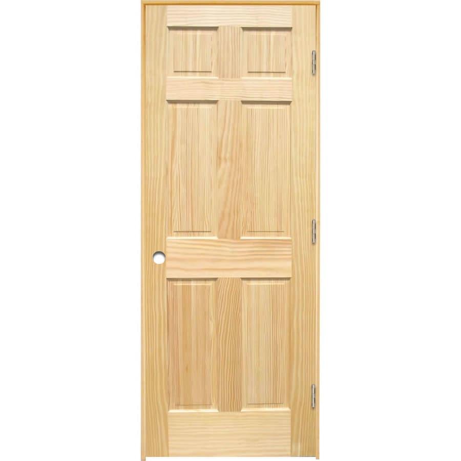 ReliaBilt Pine Interior Door (Common: 32-in x 80-in; Actual: 33.5-in x 81.25-in)