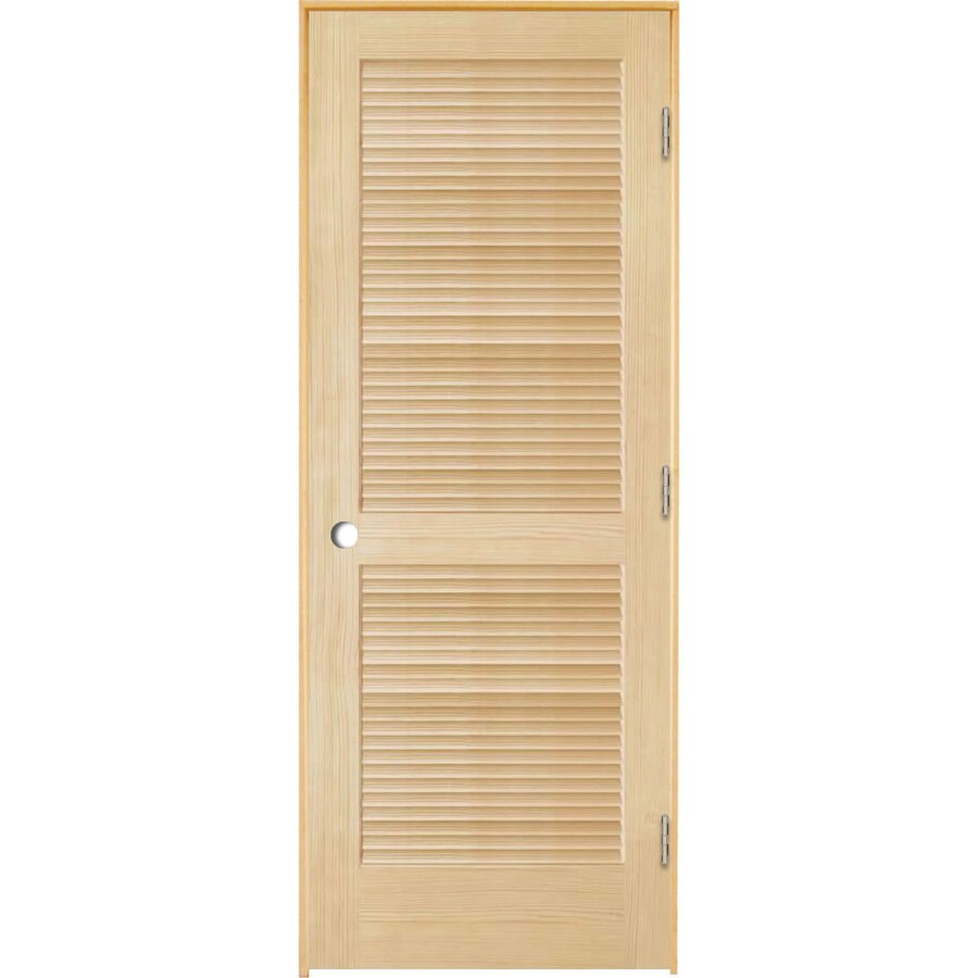ReliaBilt (Unfinished) Prehung Full Louver Pine Interior Door (Common: 24-in x 80-in; Actual: 25.5-in x 81.25-in)