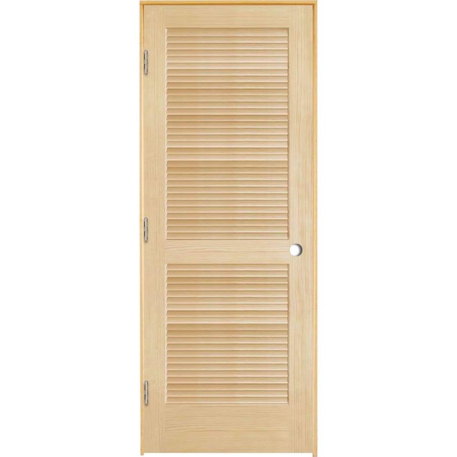 ReliaBilt Prehung Full Louver Pine Interior Door (Common: 32-in x 80-in; Actual: 33.5-in x 81.25-in)