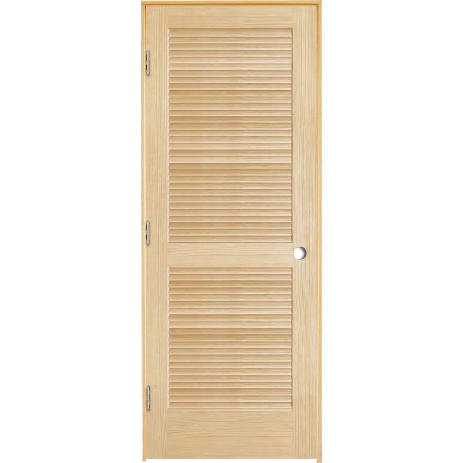 Shop reliabilt full louver pine single prehung interior Prehung louvered interior doors