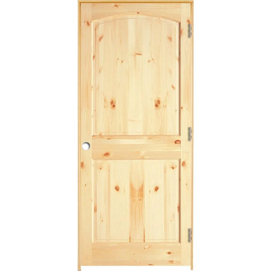 ReliaBilt 2-panel Arch Top Pine Single Prehung Interior Door (Common: 24-in X 80-in; Actual: 25.5-in x 81.25-in)