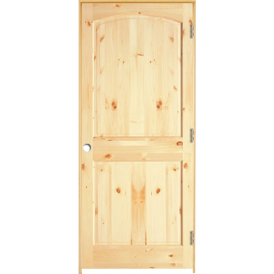 ReliaBilt Prehung 2-Panel Arch Top Pine Interior Door (Common: 28-in x 80-in; Actual: 29.5-in x 81.25-in)
