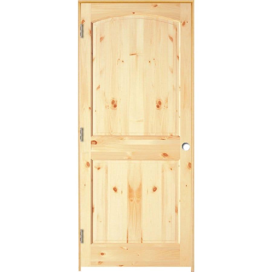 ReliaBilt Prehung 2-Panel Arch Top Pine Interior Door (Common: 30-in x 80-in; Actual: 31.5-in x 81.25-in)