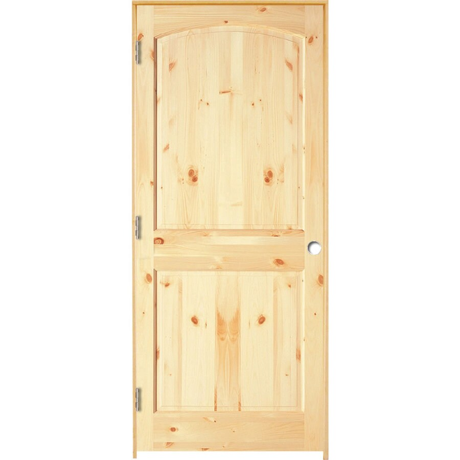 ReliaBilt Prehung 2-Panel Arch Top Pine Interior Door (Common: 36-in x 80-in; Actual: 37.5-in x 81.25-in)