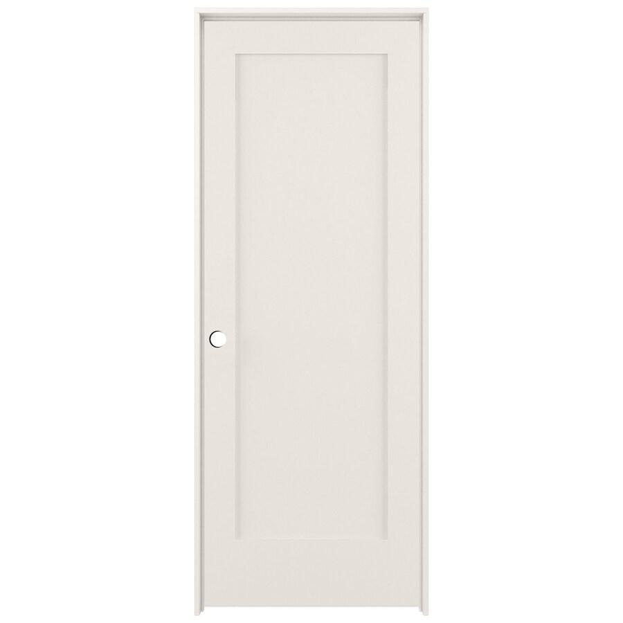 ReliaBilt Primed Solid Core MDF Prehung Interior Door (Common: 28 In X 80