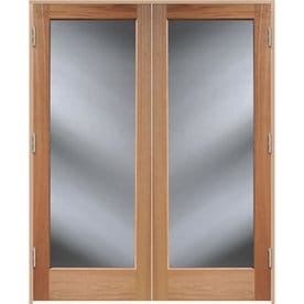 ReliaBilt Unfinished Solid Core Clear Glass Wood Oak French Door (Common 48-in  sc 1 st  Lowe\u0027s & Shop French Doors at Lowes.com