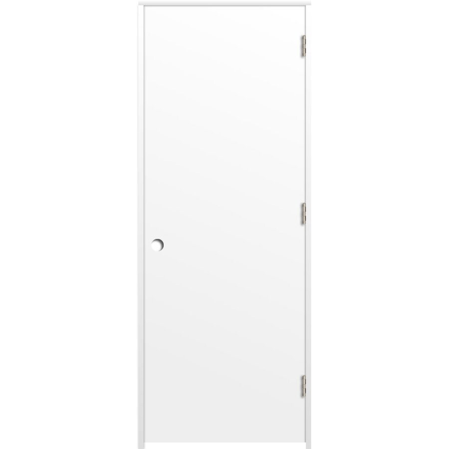 ReliaBilt Prehung Hollow Core Flush Interior Door (Common: 36-in x 80-in; Actual: 37.5-in x 81.5-in)