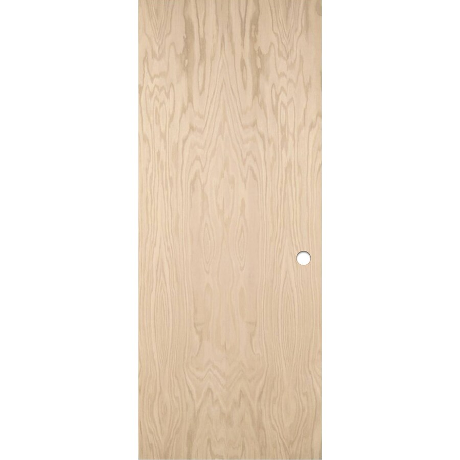 ReliaBilt Hollow Core Flush Oak Slab Interior Door (Common: 24-in x 80-in; Actual: 24-in x 80-in)