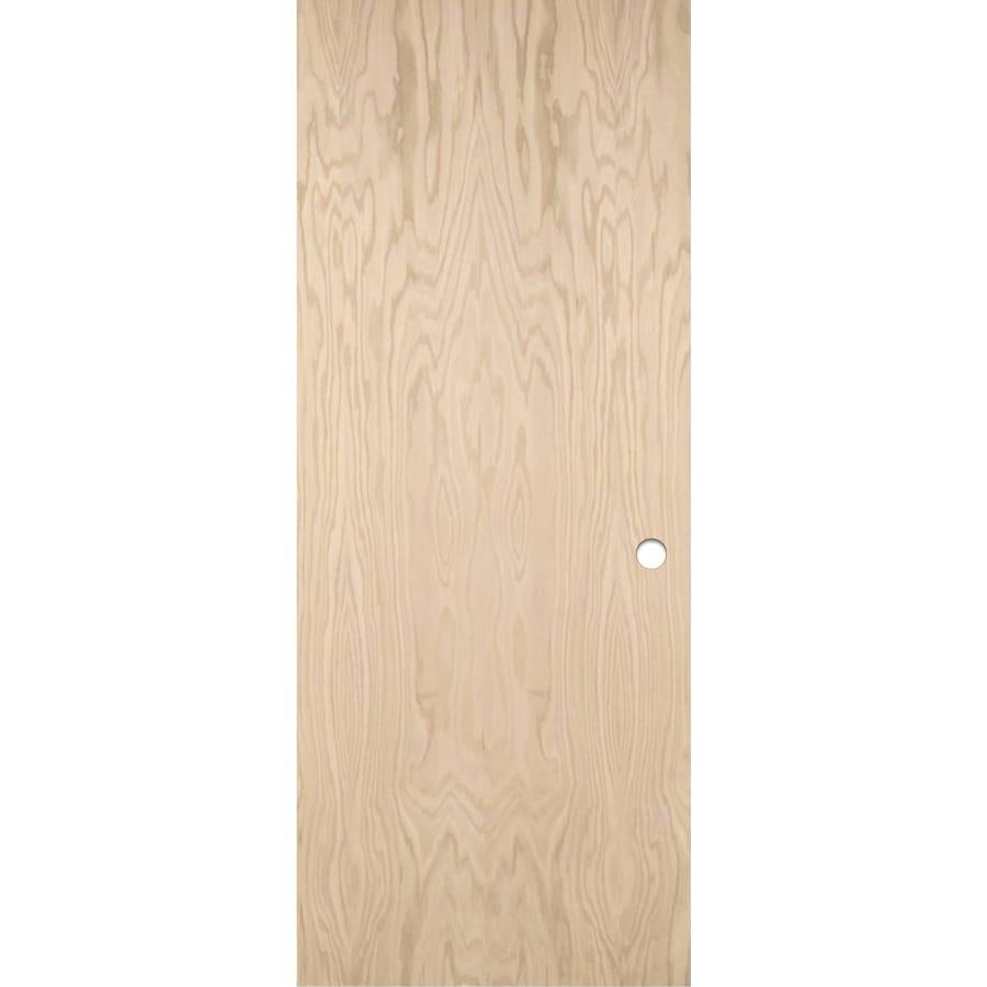 Shop ReliaBilt Unfinished Flush Hollow Core Wood Oak Slab Door ...