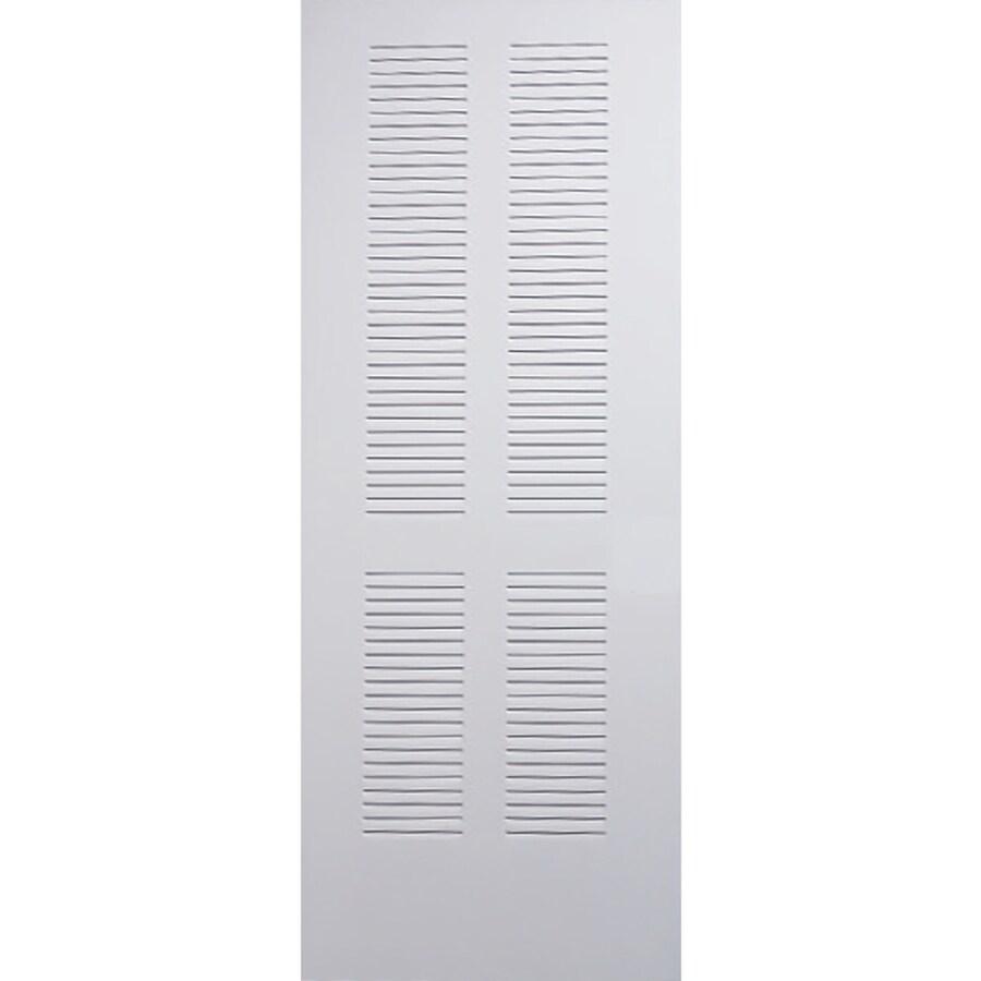 Shop Reliabilt Primed Louver Solid Core Steel Slab Door Common 24 In X 80 In Actual