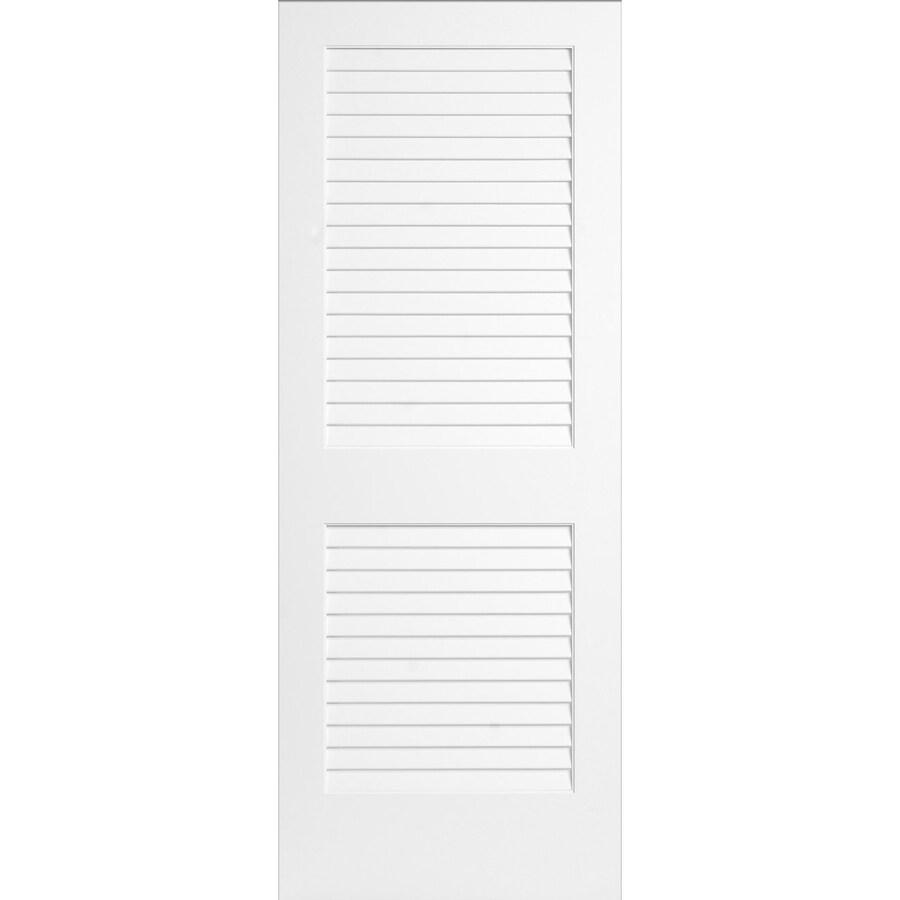 ReliaBilt White Plantation Louver Pine Slab Interior Door (Common: 28-in x 80-in; Actual: 28-in x 80-in)