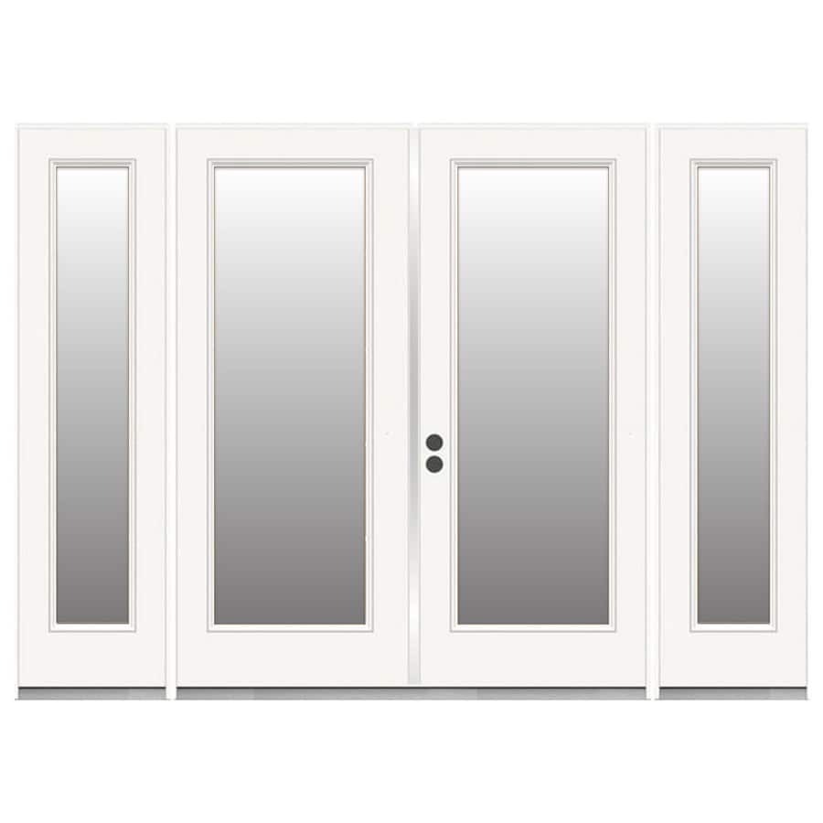 Shop Reliabilt Steel Patio Door White Primed Steel French Patio Door
