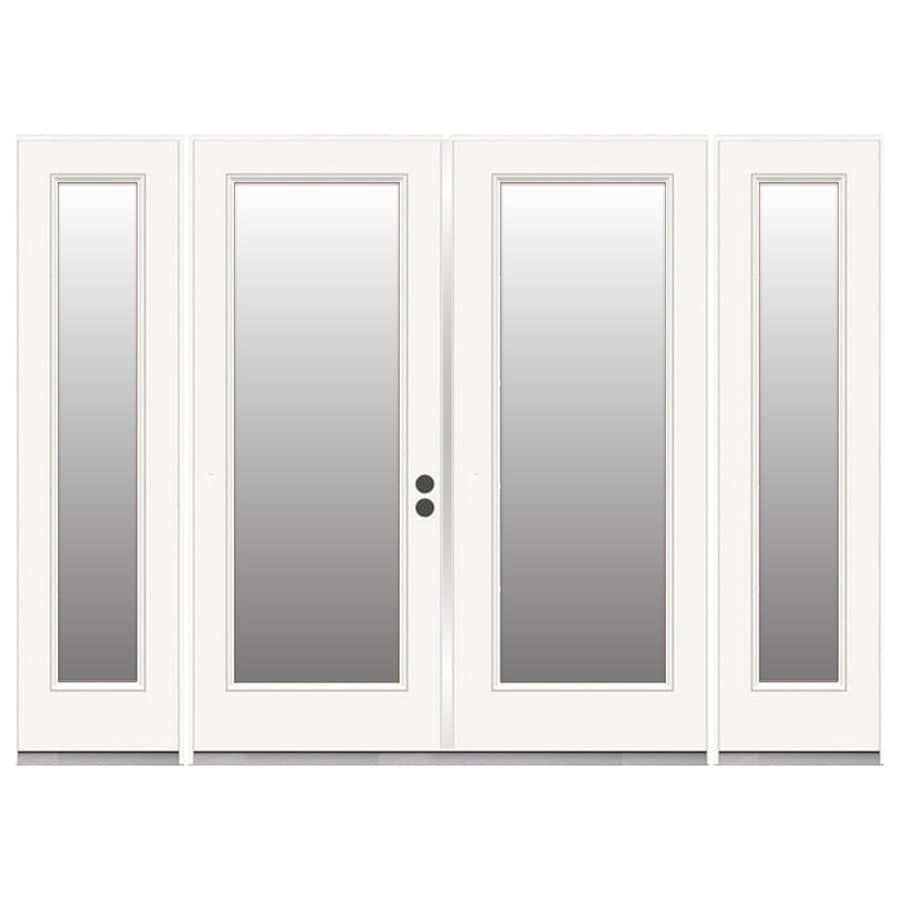 Shop reliabilt 95 5 in x 79 5 in clear glass left hand for White french doors exterior