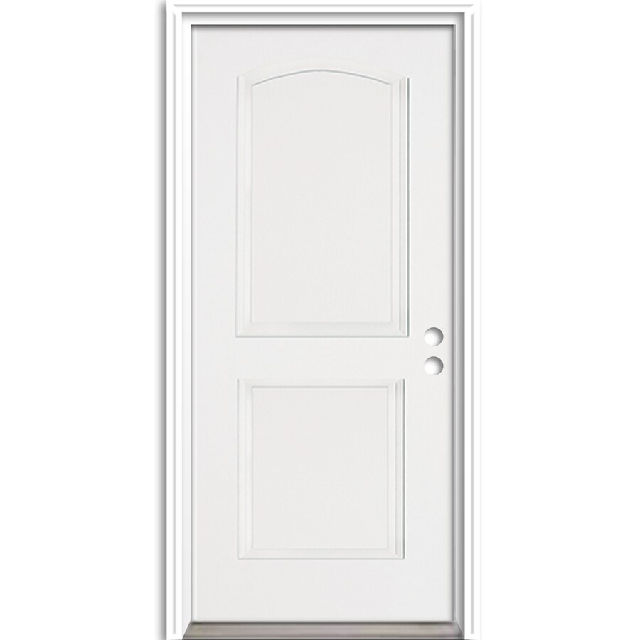 ReliaBilt 2-Panel Insulating Core Left-Hand Inswing Fiberglass Prehung Entry Door (Common: 36-in x 80-in; Actual: 37.5-in x 81.625-in)
