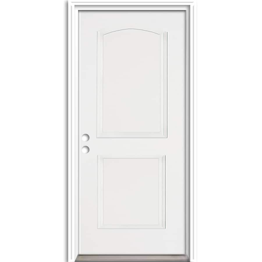 ReliaBilt 2-Panel Insulating Core Right-Hand Inswing Fiberglass Unfinished Prehung Entry Door (Common: 36-in x 80-in; Actual: 37.5-in X
