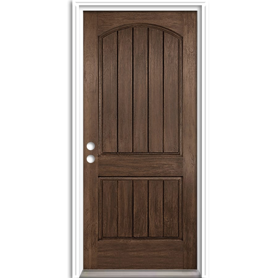ReliaBilt Right-Hand Inswing Fiberglass Entry Door with Insulating Core (Common: 36-in x 80-in; Actual: 37.5-in x 81.625-in)