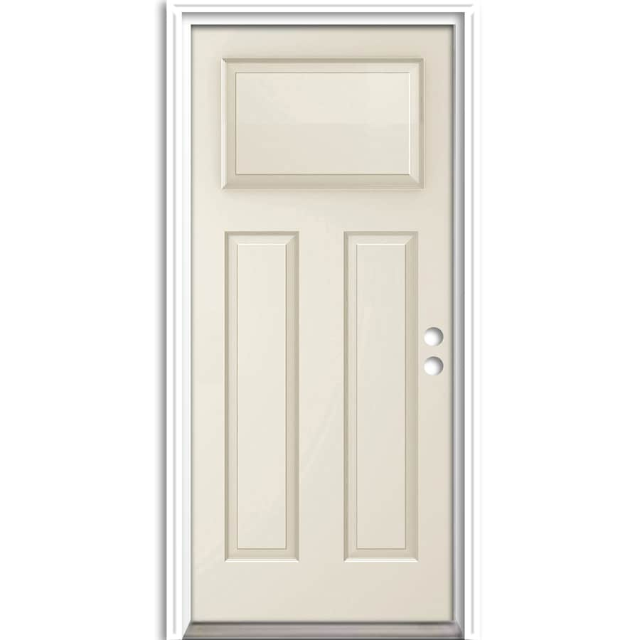 ReliaBilt Craftsman Insulating Core Left-Hand Inswing Steel Primed Prehung Entry Door (Common: 36-in x 80-in; Actual: 37.5-in x 81.625-in)