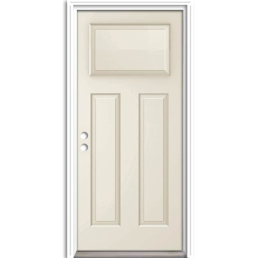 ReliaBilt Craftsman Insulating Core Right-Hand Inswing Steel Primed Prehung Entry Door (Common: 36-in x 80-in; Actual: 37.5-in X
