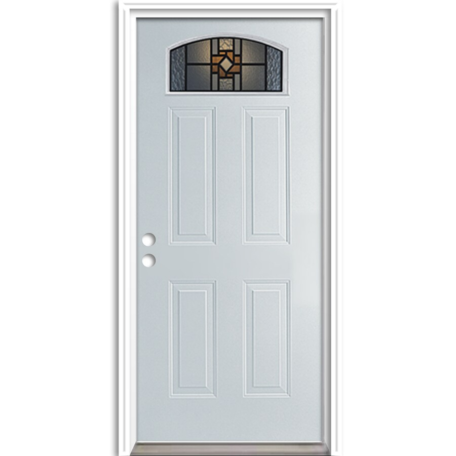 Shop Reliabilt 2 Panel Insulating Core Morelight Right Hand Inswing Steel Primed Prehung Entry