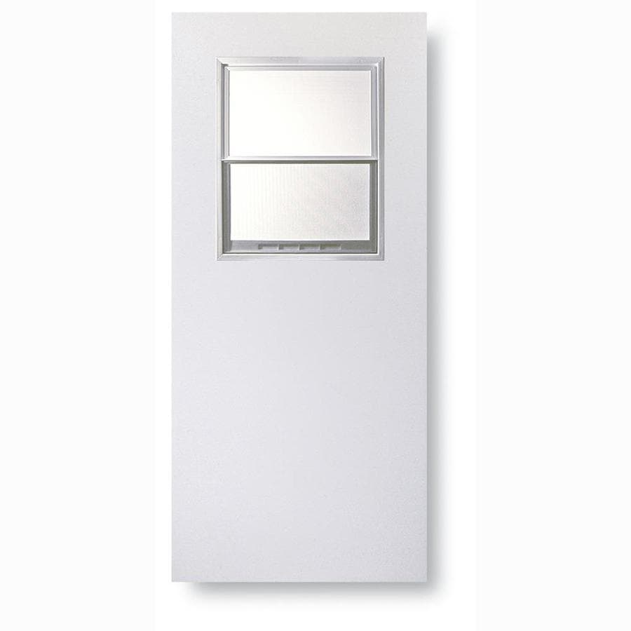 Shop reliabilt half lite privacy glass universal for Exterior door slab