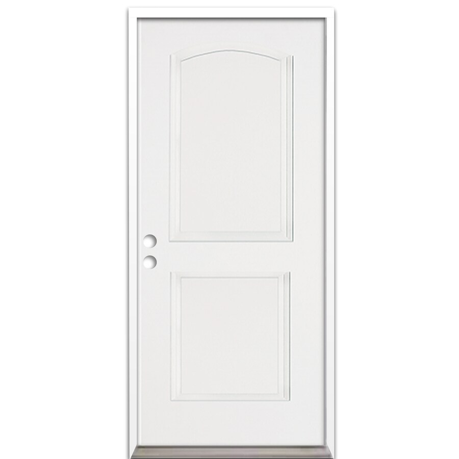 ReliaBilt 2-Panel Insulating Core Right-Hand Inswing Fiberglass Prehung Entry Door (Common: 36-in x 80-in; Actual: 37.5-in x 81.625-in)