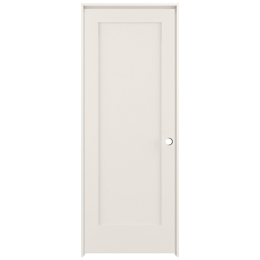 Shop Reliabilt Primed Solid Core Mdf Prehung Interior Door Common 24 In X 80 In Actual 25 5