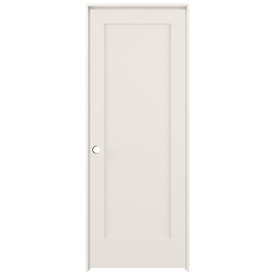 Shop reliabilt primed solid core mdf single prehung for Solid core mdf interior doors