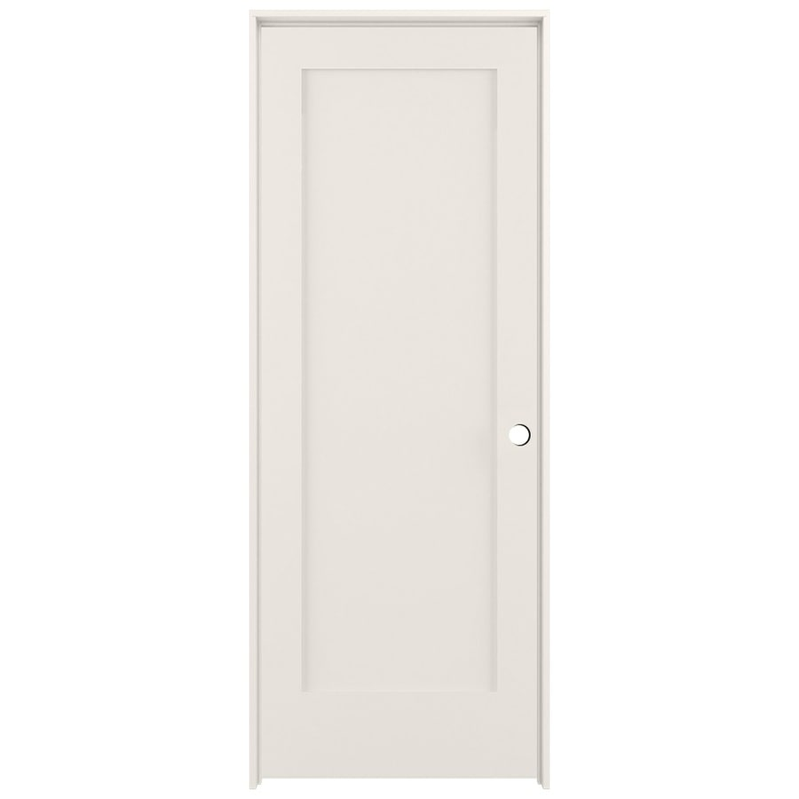 Shop Reliabilt Primed Solid Core Mdf Single Prehung Interior Door Common 32 In X 80 In Actual