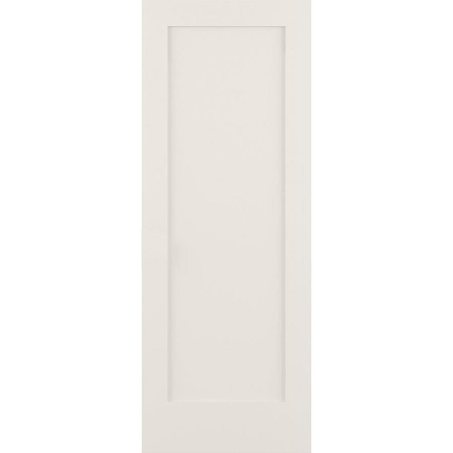 Shop Reliabilt White 1 Panel Solid Core Wood Slab Door Common 24 In X 80 In Actual 24 In X
