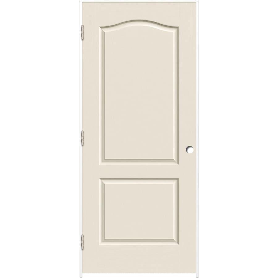 ReliaBilt 2-panel Arch Top Single Prehung Interior Door (Common: 30-in X 80-in; Actual: 31.375-in x 81.312-in)