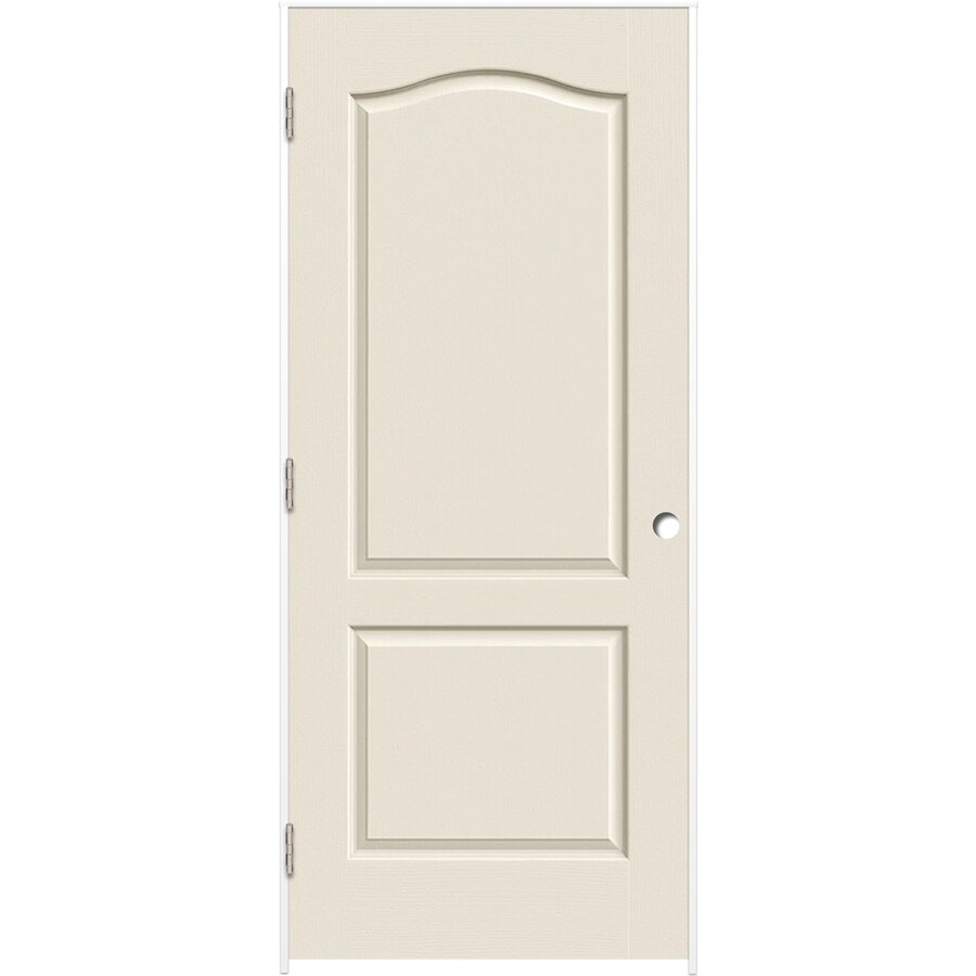 Shop reliabilt primed hollow core molded composite prehung interior door common 32 in x 80 in for Lowes interior doors prehung