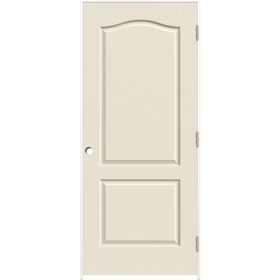 ReliaBilt (Primed) Prehung Hollow Core 2-Panel Arch Top Interior Door (Common: 32-in x 80-in; Actual: 33.375-in x 81.312-in)