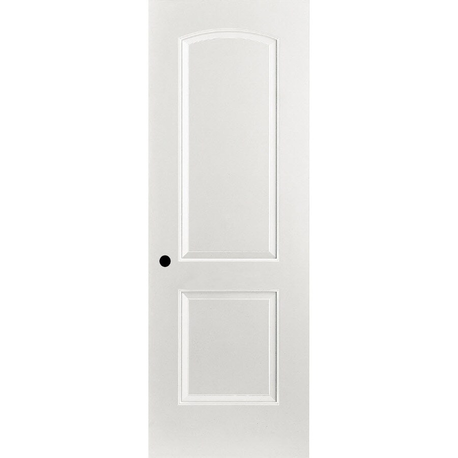 ReliaBilt Prehung Hollow Core 2-Panel Round Top Interior Door (Common: 30-in x 80-in; Actual: 31.375-in x 81.312-in)