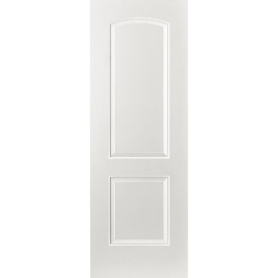 ReliaBilt (Primed) Prehung Hollow Core 2-Panel Round Top Interior Door (Common: 36-in x 80-in; Actual: 37.375-in x 81.312-in)