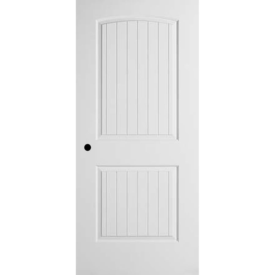 ReliaBilt (Primed) Prehung Hollow Core 2-Panel Round Top Plank Interior Door (Common: 36-in x 80-in; Actual: 37.375-in x 81.312-in)