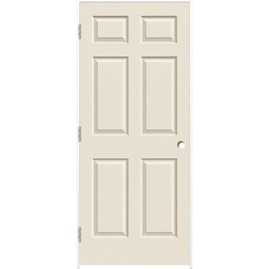 ReliaBilt 6-panel Single Prehung Interior Door (Common: 28-in X 80-in; Actual: 29.375-in x 81.312-in)