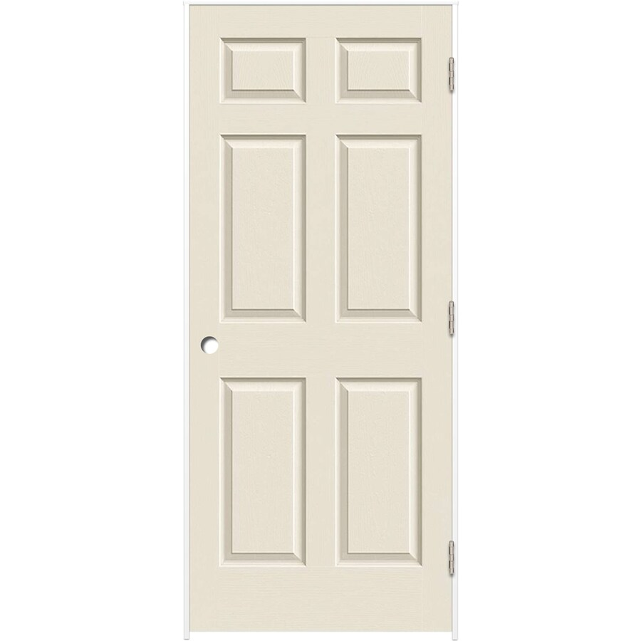 ReliaBilt (Primed) Prehung Hollow Core 6-Panel Interior Door (Common: 30-in x 80-in; Actual: 31.375-in x 81.312-in)