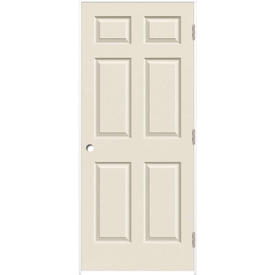 ReliaBilt Prehung Hollow Core 6-Panel Interior Door (Common: 32-in x 80-in; Actual: 33.375-in x 81.312-in)