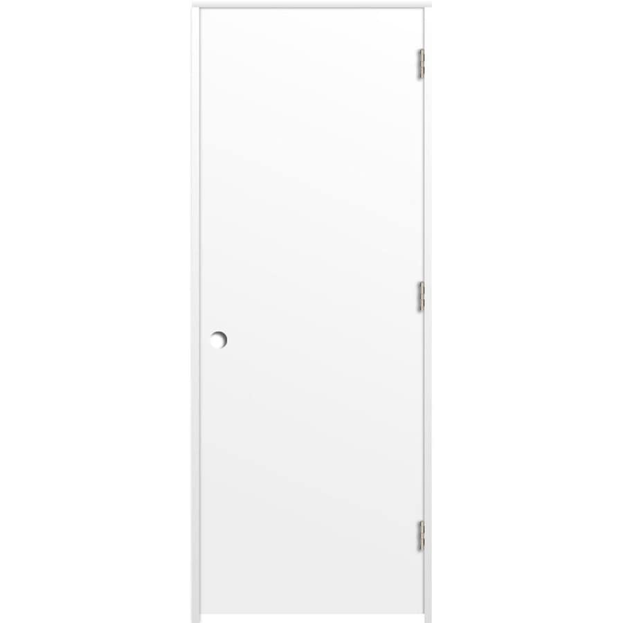 ReliaBilt Prehung Hollow Core Flush Interior Door (Common: 28-in x 80-in; Actual: 29.375-in x 81.312-in)